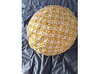 Free yellow/white Habitat paper lamp shade