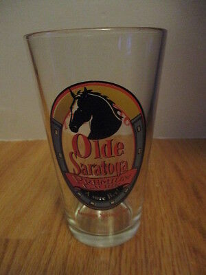 "OLDE SARATOGA RACE - Saratoga Springs NY ""A SURE BET!"" 6"" Heavy Glass HORSES"
