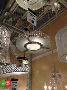 Crystal hanging light from Home Depot