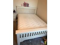 Aspen white double bed with mattress
