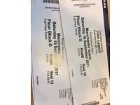 2 x John Legend Tickets - Saturday 16th September - Manchester Arena - Seating