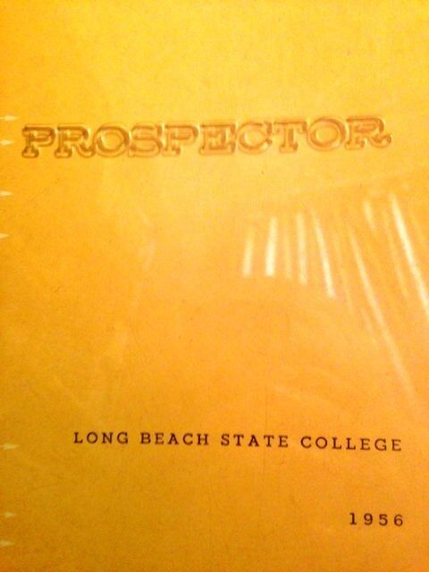 """1956 LONG BEACH STATE UNIVERSITY    YEARBOOK """"Prospecor""""~ very fine, used~~"""
