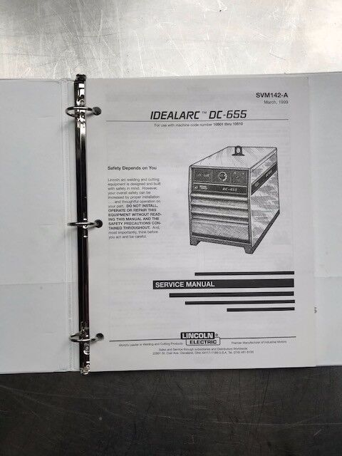 Lincoln Electric Idealarc DC 655 Service Manual SVM142A