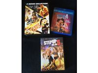 Step Up 1 2 3 & 5 on DVD and Step Up 4 Miami Heat on Blu Ray (OPEN TO OFFERS)