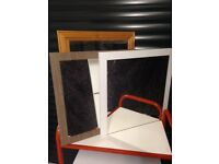 Mirrors, three good quality, one classic pine frame and two contemporary mirrors