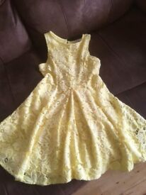 Very pretty yellow party dress from River Island.