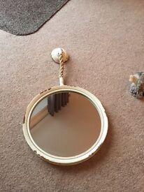 Small Round Mirrorr nautical theme