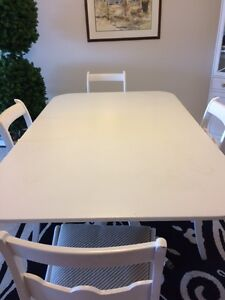 Vintage Dining Room with  4 chairs and corner cabinet Sarnia Sarnia Area image 3