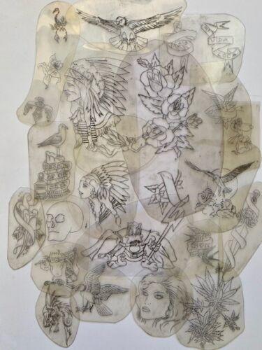 Acetate Stencil Original Bert Grimms tattoo  vintage lot 20