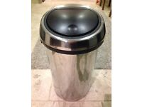 Brabantia silver bin with black lid