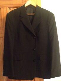 Mens black suit jacket 46S
