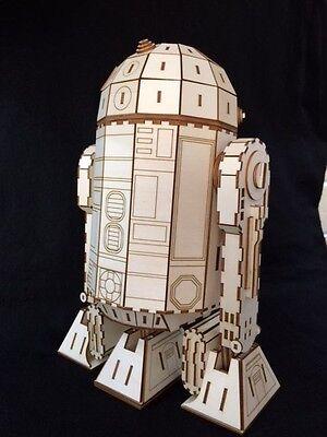 Artoo Detoo Droid, Laser Cut Wooden 3D Model/Puzzle Kit