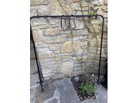 Custom Wrought Iron curtain rail for alcove