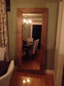 Miroir (fabrique avec du bois de grange)