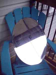 mirror- oval with bevelled edge