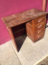 Junior oak office desk
