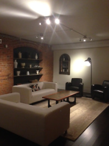 Fully Furnished 2000 Sq Ft loft with Private Walkout Terrace