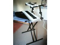 Double keyboard stand for sale