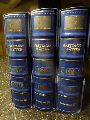 Berlin Ersttagsblätter komplett von Blatt 1 v. 1975  -  bis Blatt Nr. 14 v.1990