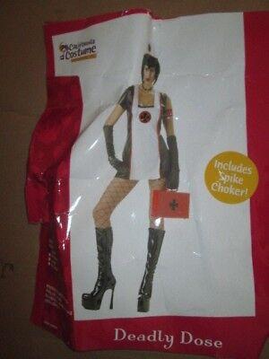 Womens DEADLY DOSE NURSE sexy Halloween costume S Sm Leg Avenue (Dead Nurse Costume)