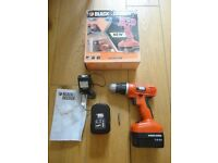 Black and Decker Cordless Drill with 2 Bateries
