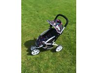 Silver Cross 3 Wheeler Doll's Pram With Extras Excellent Condition