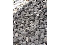 Approx 10 ton of Pink granite setts.