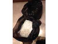 Polystyrene packaging chips/peanuts. Two sacks full. Used once. Free