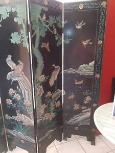 Vintage Chinese Folding Screen/Room Divider Noosaville Noosa Area Preview