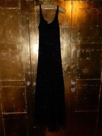 Nicole Farhi Black Beaded Evening Dress Size 10