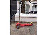 mini micro scooter, t-bar pink