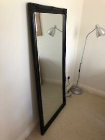 Large Decorative Black Wall Mirror - Great Condition