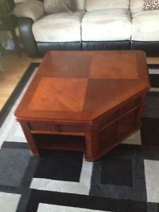 Lift top coffee table - solid wood