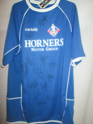 Oldham Athletic 2004-2005 Squad Signed Home Football Shirt with COA  /16430 image