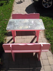 Kids Table and Bench Set*******NOW $40************