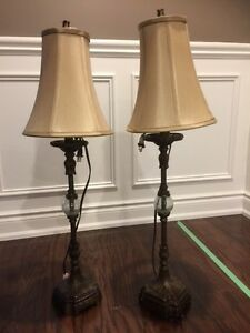 REDUCED. Pair of Table Lamps with Shades