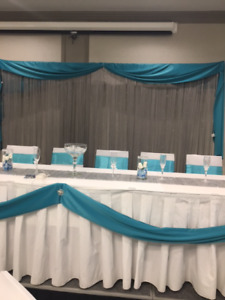 Beautiful Aqua And Silver Wedding Decor