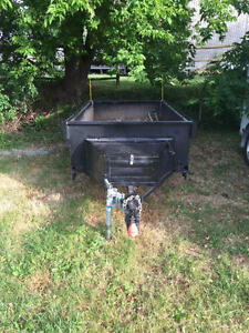 4x8 Black Steel Utility Trailer. Excellent Condition.