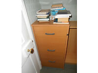 Filing Cabinet-Beech_-3 Drawer