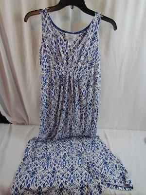 Carole Hochman Heavenly Soft Sleepwear Sleeveless Nightgown Blue White PS (Heavenly Sleepwear)