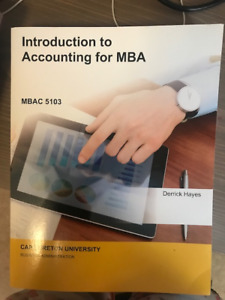 Introduction to Accounting for MBA MBAC 5103