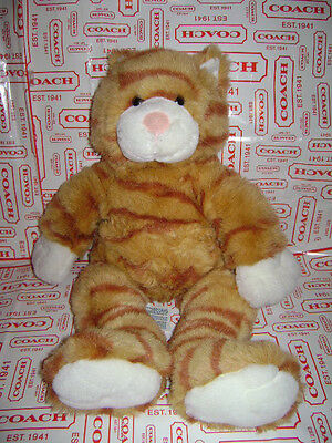 BUILD A BEAR WORKSHOP CAT KITTY TABBY PLUSH STUFFED ORANGE BROWN 16