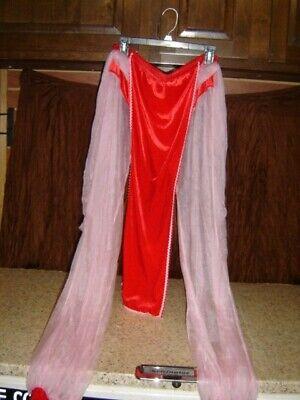 Pink Pants Halloween Costume (HAREM GIRL PANTS COSTUME HALLOWEEN I DREAM OF JEANNIE Sheer Pink size)