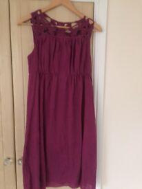 Hot pink chiffon summer dress