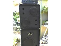 Bass Rig..400 watt Crate head+2x10+1x15 cabs