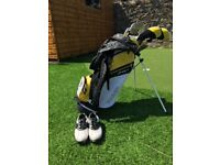 Childrens Golf Clubs and Golf Shoes size 3 UK