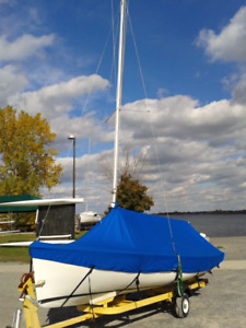 Sailboat O'Day Daysailor 17ft with trailer
