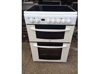 £124.99 Indesit ceramic electric cooker+60cm+3 months warranty for £124.99