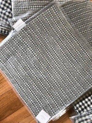 Pottery Barn Honeycomb Pillow Cover Flagstone Gray 24 sq Thr