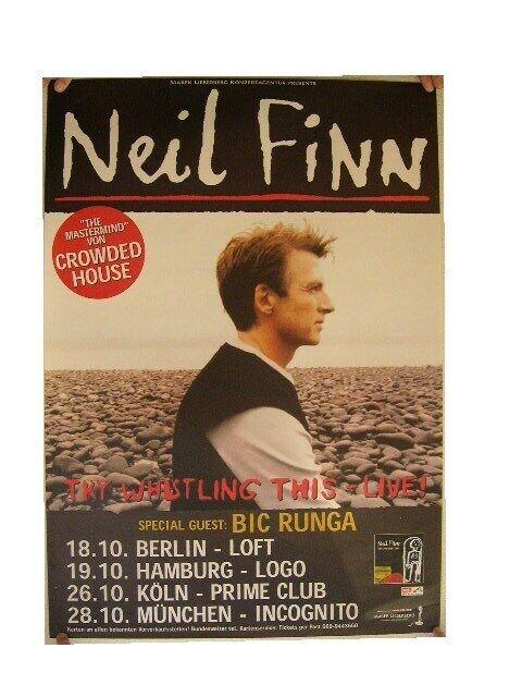 Neil Finn Poster Concert Split Enz Crowded House The